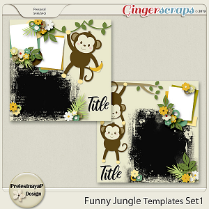 Funny Jungle Templates Set1