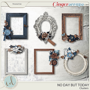 No Day But Today Clusters by Ilonka's Designs
