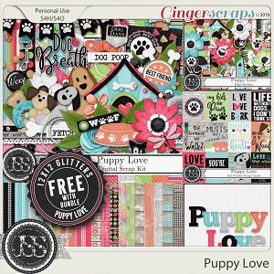Puppy Love Digital Scrapbook Bundle