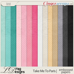 Take Me To Paris: Embossed Papers by LDragDesigns