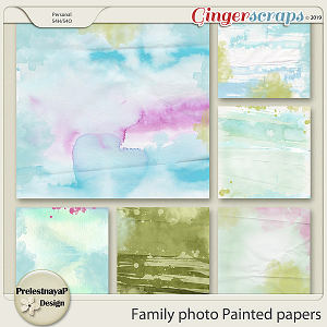 Family photo Painted papers