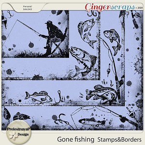 Gone fishing Stamps & Borders