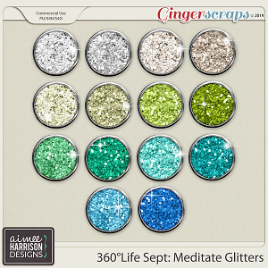 360°Life Sept: Meditate Glitters by Aimee Harrison