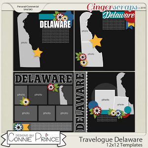 Travelogue Delaware - 12x12 Temps (CU Ok) by Connie Prince