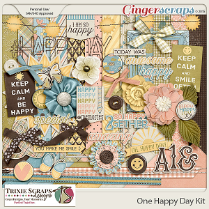 One Happy Day Full Kit by Trixie Scraps Designs