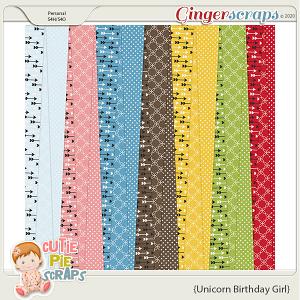 Unicorn Birthday Girl Pattern