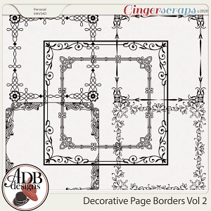 Heritage Resource - Decorative Page Borders Vol 02 by ADB Designs
