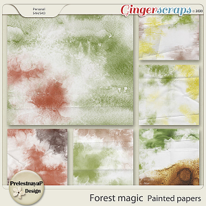 Forest magic Painted papers