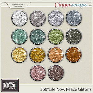360°Life Nov: Peace Glitters by Aimee Harrison