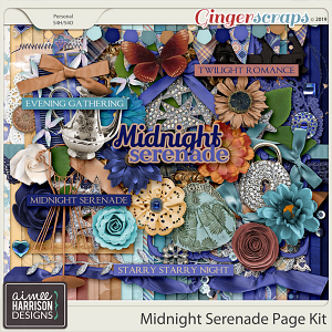 Midnight Serenade Page Kit by Aimee Harrison