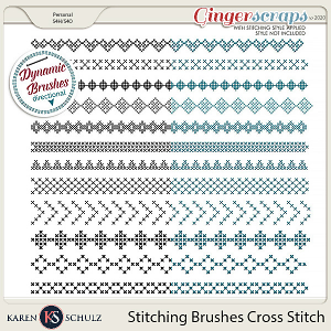 Stitching Brushes Cross Stitch by Karen Schulz