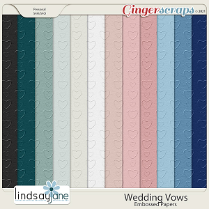 Wedding Vows Embossed Papers by Lindsay Jane