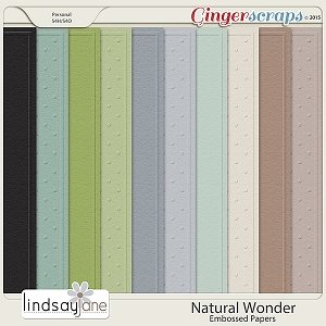 Natural Wonder Embossed Papers by Lindsay Jane