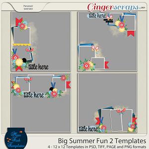 Big Summer Fun 2 Templates by Miss Fish