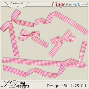 Designer Stash 25 Ribbons by LDragDesigns