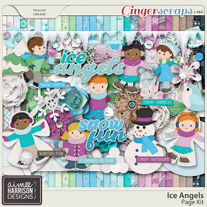 Ice Angels Page Kit by Aimee Harrison