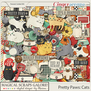 Pretty Paws: Cats (page kit)