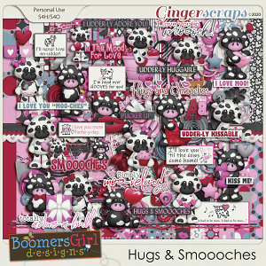Hugs & Smoooches by BoomersGirl Designs