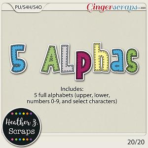 20/20 ALPHABETS by Heather Z Scraps