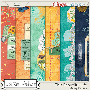 This Beautiful Life - Messy Papers by Connie Prince