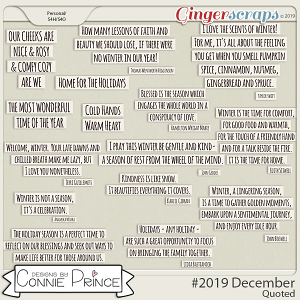 #2019 December - Quoted Pack by Connie Prince