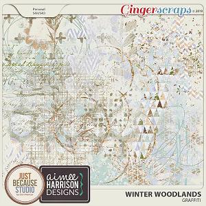 Winter Woodlands Graffiti by JB Studio & Aimee Harrison Designs