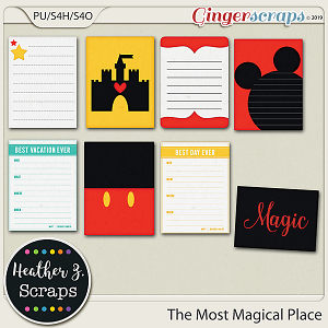 The Most Magical Place JOURNAL CARDS by Heather Z Scraps