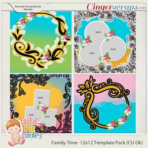 Family Time -Templates -12x12 (CU Ok) by CutiePieScraps