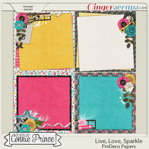 Live, Love, Sparkle - PreDeco Papers