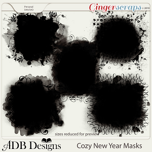 Cozy New Year Masks by ADB Designs