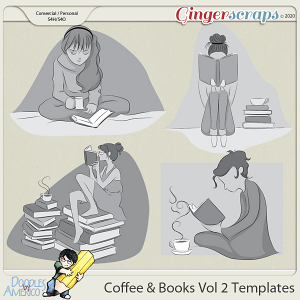 Doodles By Americo: Coffee And Books Vol 2 Templates