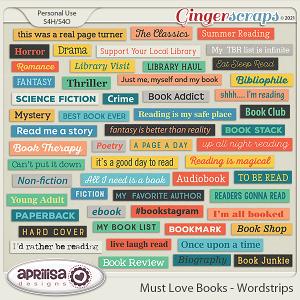Must Love Books - Wordstrips by Aprilisa Designs