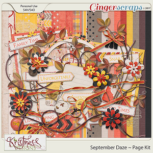September Daze Page Kit