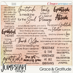 Grace & Gratitude {Word Art}