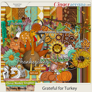 Grateful for Turkey by Clever Monkey Graphics
