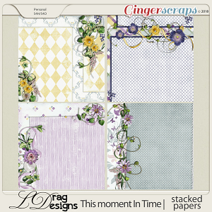 This Moment In Time: Stacked Papers by LDragDesigns
