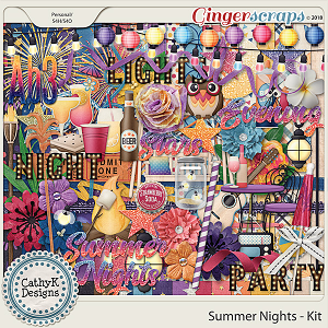 Summer Nights - Kit by CathyK Designs