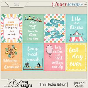 Thrill Rides & Fun: Journal Cards by LDrag Designs