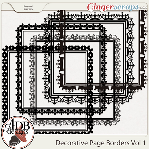 Heritage Resource - Decorative Page Borders Vol 01 by ADB Designs