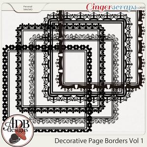 Heritage Resource - Decorative Page Borders Vol 01 by ADB Designs