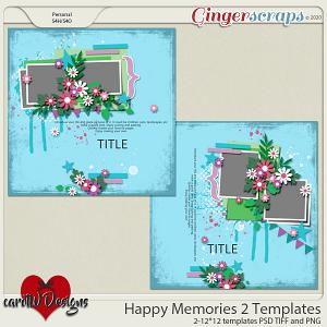 Happy Memories Templates vol1 by CarolW Designs