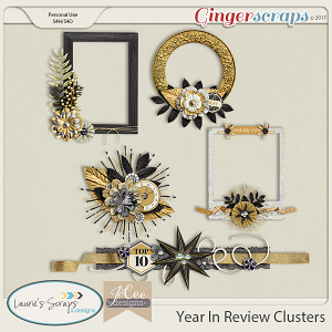 Year in Review Clusters by JoCee Designs and Laurie's' Scraps and Designs
