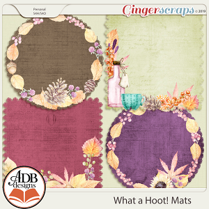 What A Hoot Mats by ADB Designs