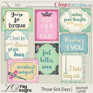 Those Sick Days: Journal Cards by LDragDesigns