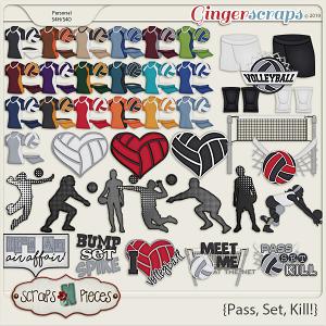 Pass, Set, Kill Theme Kit by Scraps N Pieces