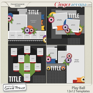 Play Ball - 12x12 Templates (CU OK)