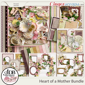 Heart of a Mother Bundle by ADB Designs
