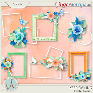 Keep Smiling Cluster Frames by Ilonka's Designs