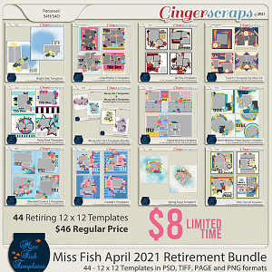 Miss Fish Retirement Bundle April 2021