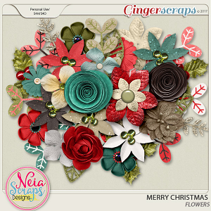 Merry Christmas - Flowers- by Neia Scraps